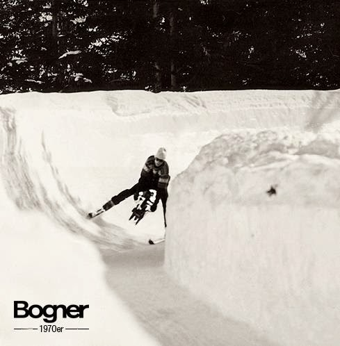 Willy Bogner while filming on the ski - Ph: Courtesy of Bogner press office