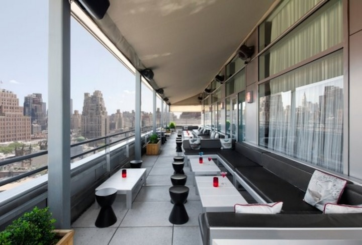 The World's 30 Best Rooftop Bars… Everyone Should Drink At #9 At Least Once. - The Plunge Rooftop Bar + Lounge on the Hotel Gansevoort in New York City overlooks the Hudson River.