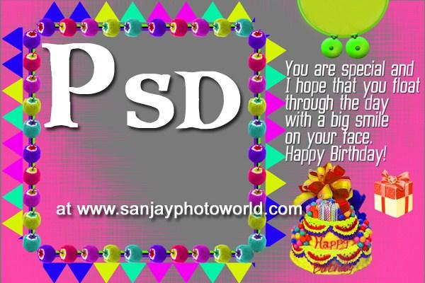Sanjay Photo World: Birthday psd backgrounds / Templates