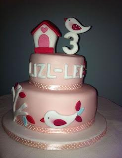 kue ultah burung tingkat