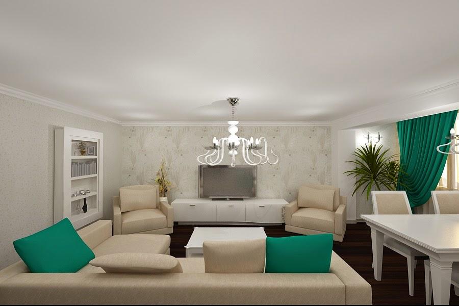Design interior apartament modern Constanta - Mobilier modern / Coltar living Italia