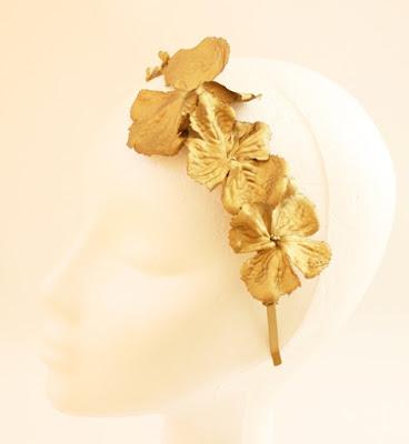 OI 1617 - Coleccion Flor - Oro- Diadema Tocado