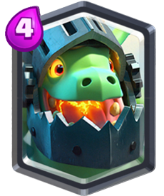 Dragão Infernal Carta Lendária de Clash Royale