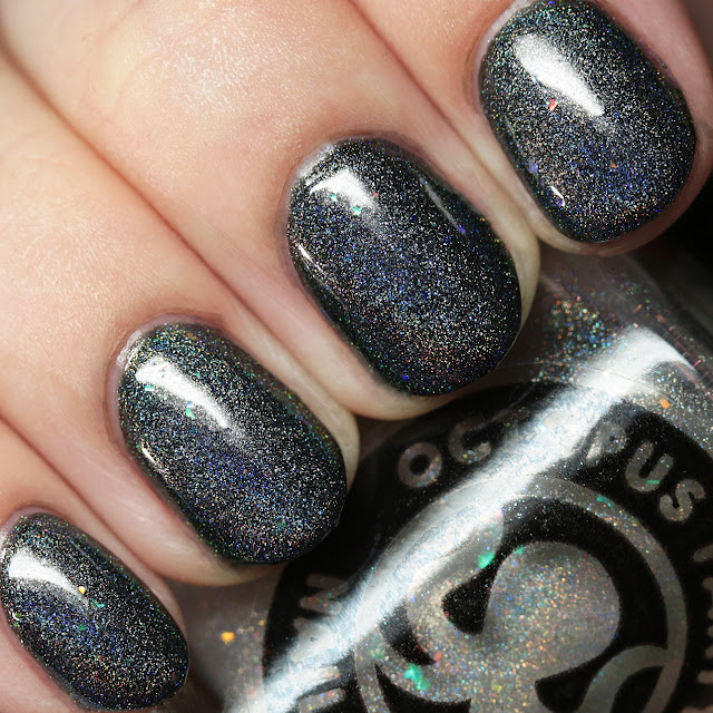 Octopus Party Nail Lacquer Prism Sentence 2 over Fright Club