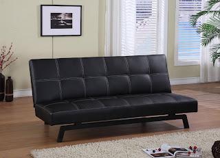 Marvelous Modern Microfiber And Leather Convertible Futon Sofa Bed Inzonedesignstudio Interior Chair Design Inzonedesignstudiocom