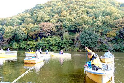 円良田湖ワカサギ釣り解禁