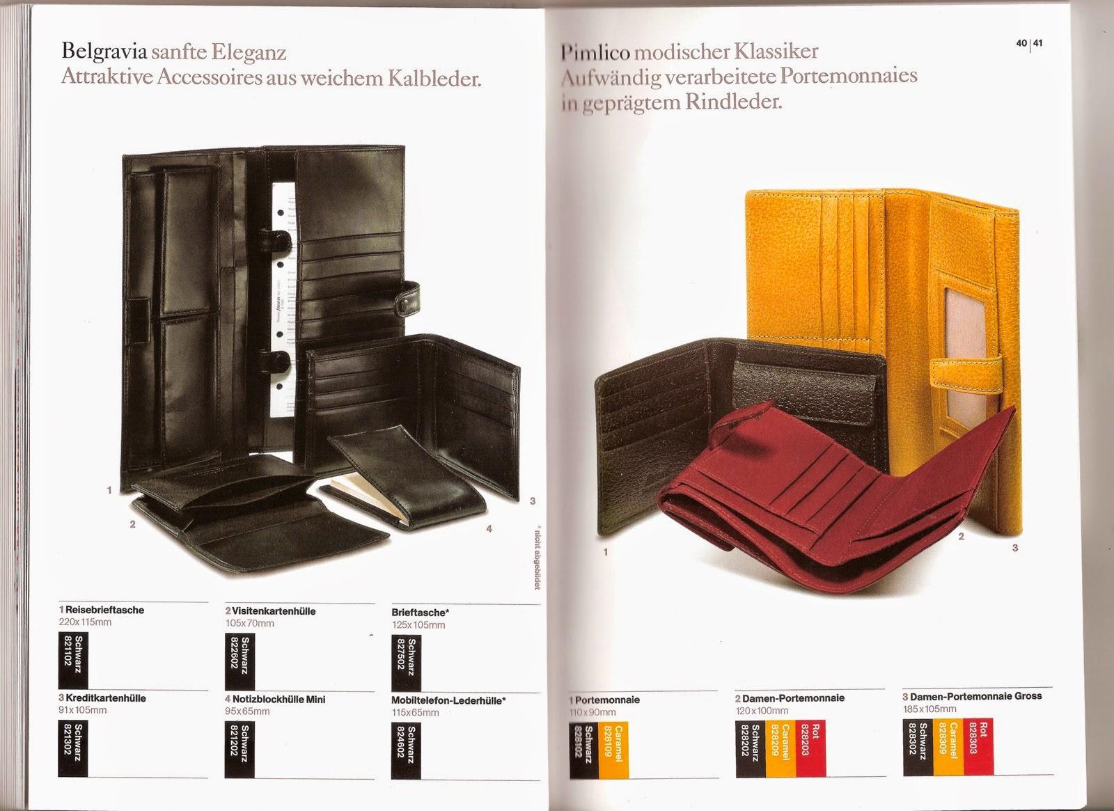 Philofaxy Filofax Germany 2005 2006 Catalogue