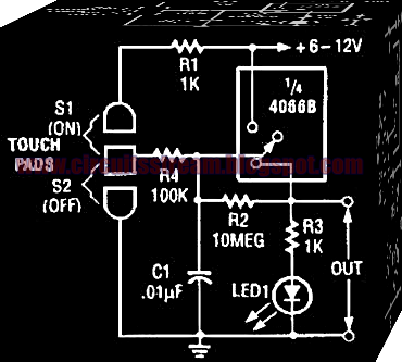 Electronic Touch On Switch Circuit Diagram