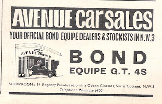 Avenue Car Sales advert from Motor 14 November 1964