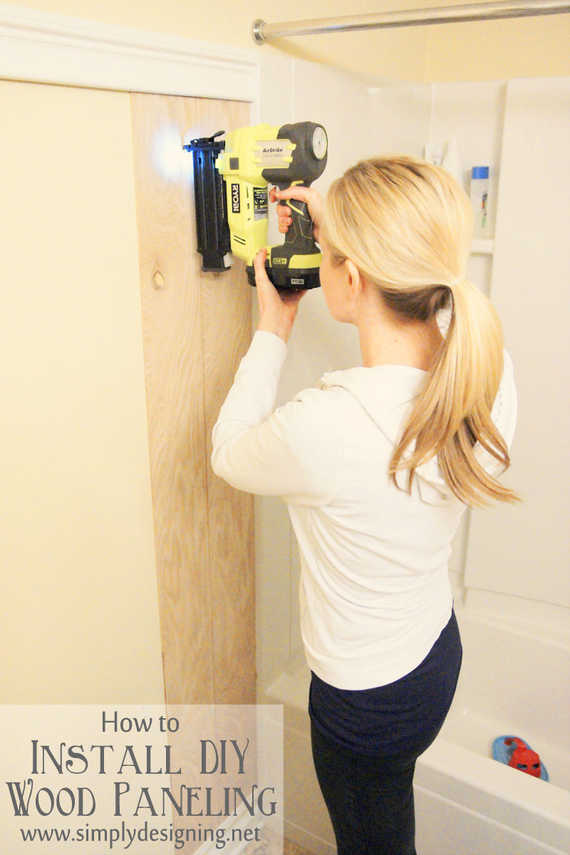 How to Install DIY Wood Paneling | a tutorial how to build and install your own wood paneling | #DIY #bathroom #paneling