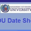 MDU DATE SHEET FOR BBA BCA 6TH SEM 2017