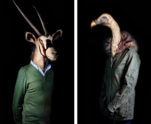 12-Antelope and Vulture-Miguel-Vallinas-Segundas-Pieles-Second-Skins-Smartly-Dressed-Animals-www-designstack-co