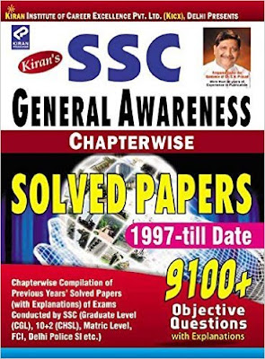 Download Free SSC General Awareness Chapterwise Solved Papers by Kiran Prakashan Book PDF