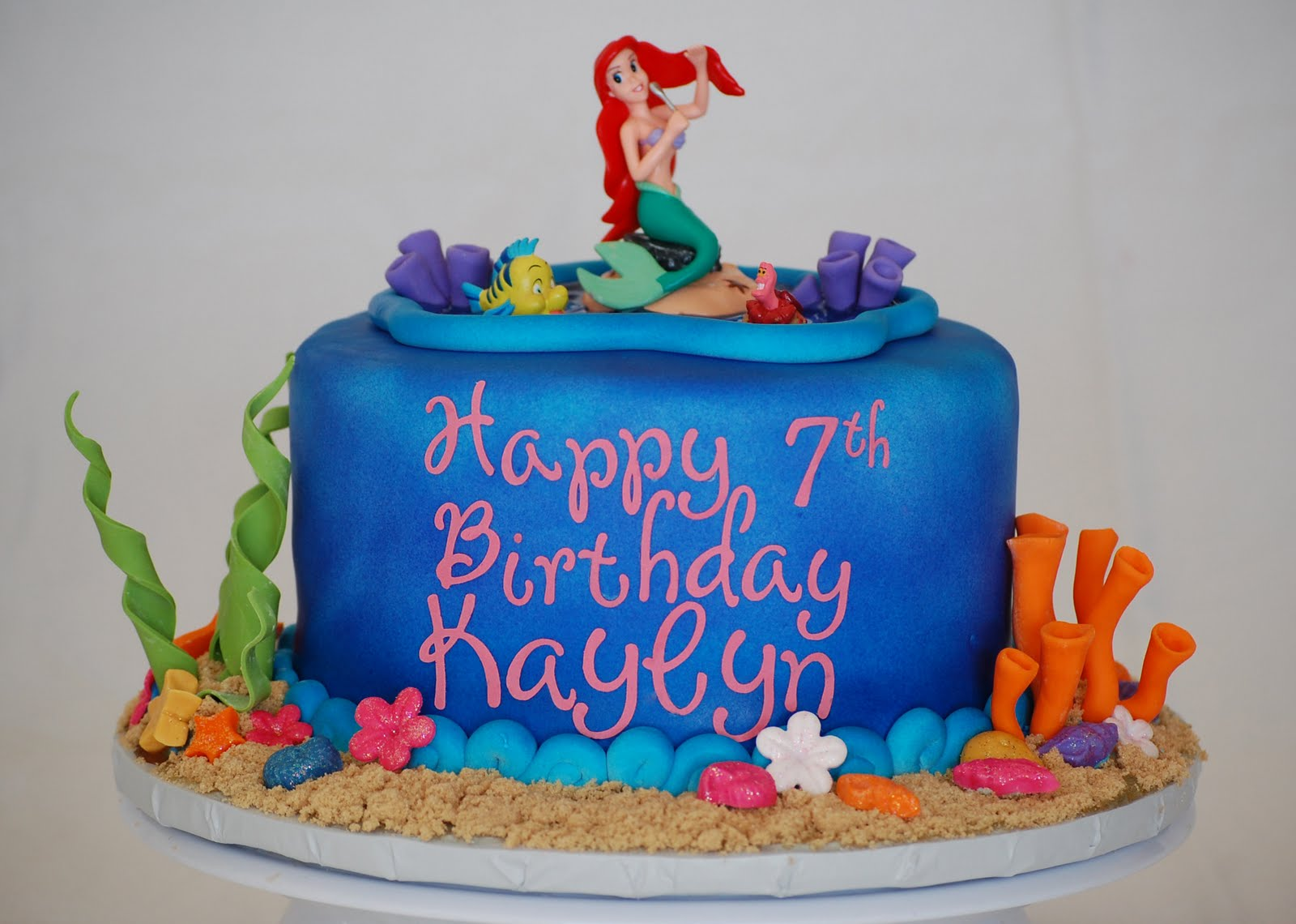 Cakefilley Little Mermaid Birthday Cake And Cupcakes