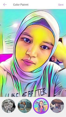 membuat kartun dengan color photo lab