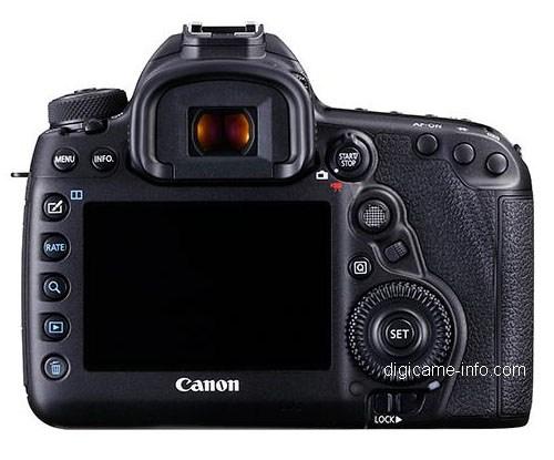Fotografia del dorso della Canon EOS 5D Mark 4