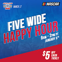 """Five Wide Happy Hour"" Promotion #NASCAR"