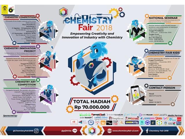 Ayo, Ikuti Aneka Kompetisi Chemistry Fair 2018 Universitas Indonesia