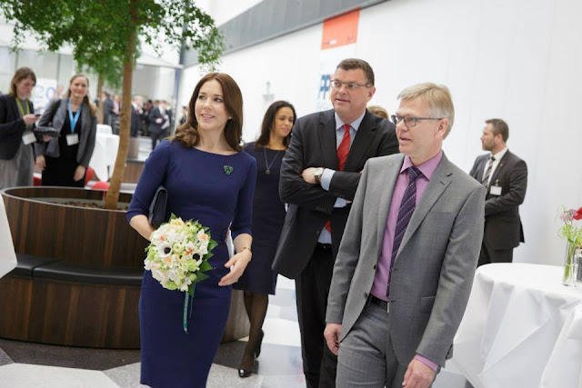 Crown Princess Mary of Denmark held a welcome speech at a conference in connection with the International Workshop on Public Private Dialogue