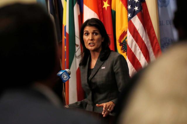 Haley acusa al gobierno bolivariano de tratar de distraer de lo que está pasando en Venezuela