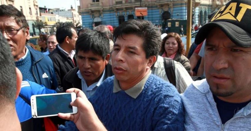 Poder Judicial aclara que Pedro Castillo no forma parte de ningún sindicato magisterial