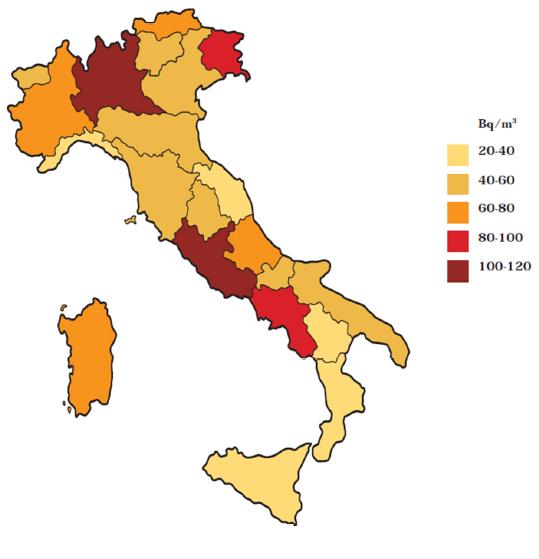 dove si trova la radiazione in Italia?