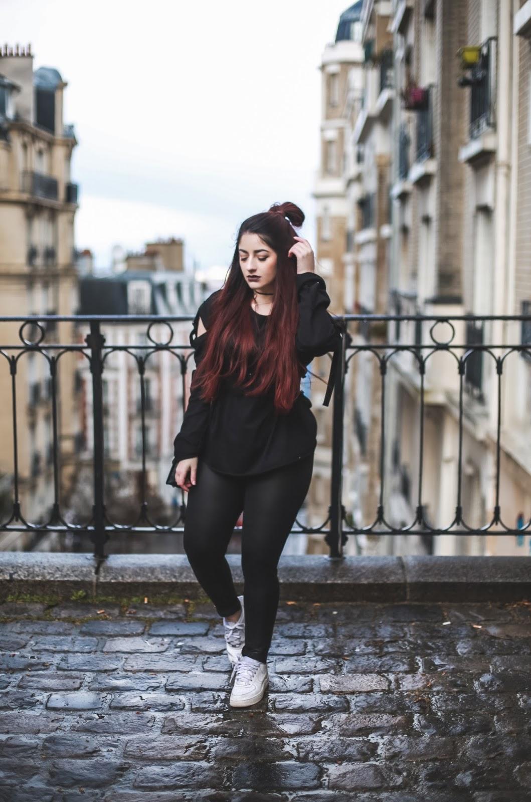 pantalon cuir blog mode venus is naive