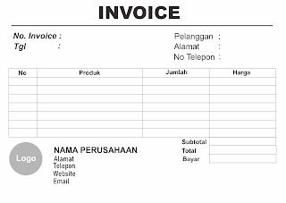 Desain Invoice Landscape
