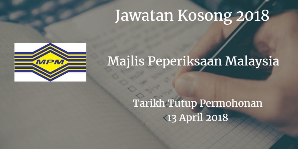 Jawatan Kosong MPM 13 April 2018