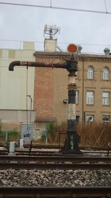 La estación de Binéfar. Cuando los trenes funcionaal con carbón.