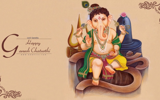 Cute Ganesh Chaturthi 2016 HD Wallpapers