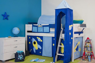 Een blauwe kinderkamer - Trendy kamer schilderij ...
