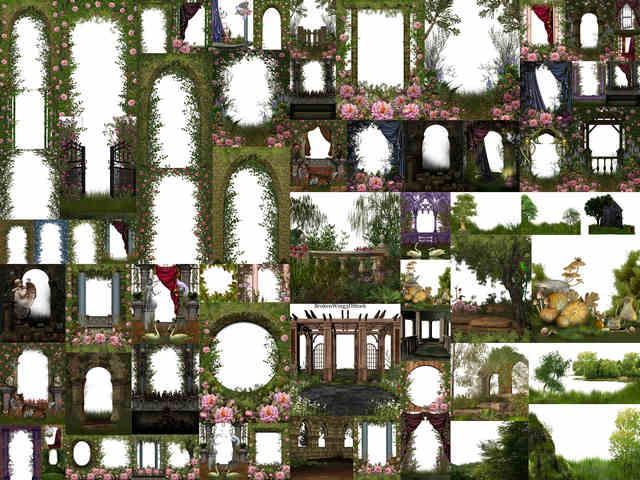 تحميل 70 خلفية PNG للأقواس والنباتات بجودة عالية