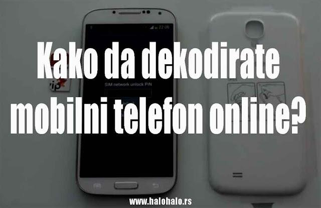 Postupak dekodiranja mobilnog telefona uz pomoć fabričkog koda