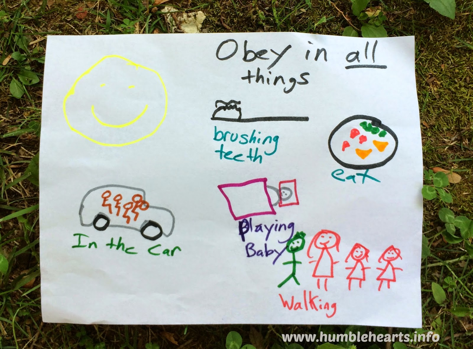 Children Obey Your Parents Teaching Ideas