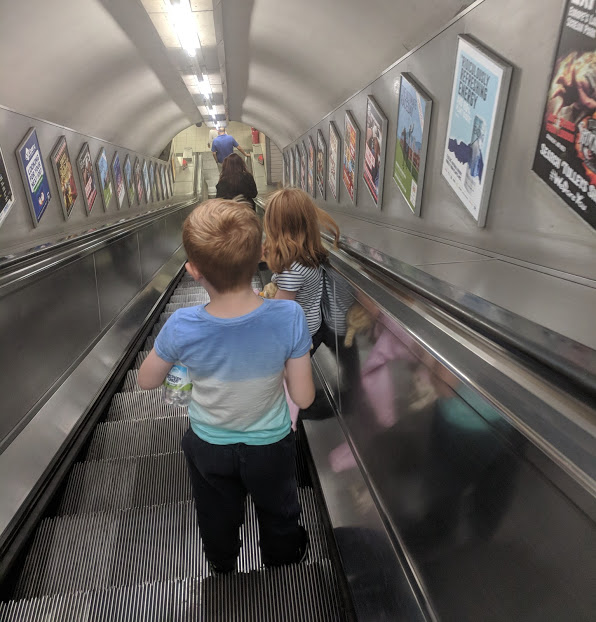 10 reasons I love my Family & Friends Railcard - kids on the tube escalator