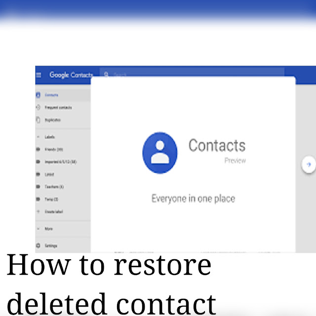 recover your contacts