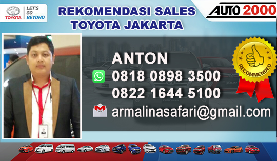 Rekomendasi Sales Toyota Radio Dalam Jakarta Selatan