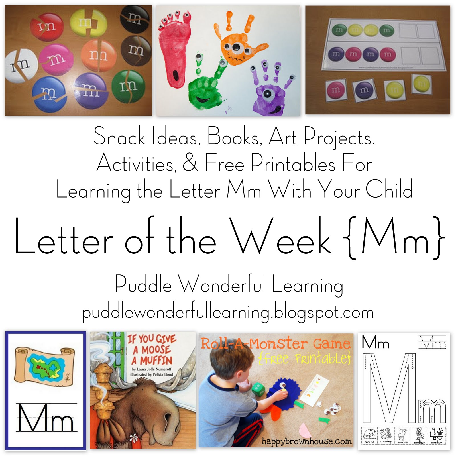 Puddle Wonderful Learning Preschool Activities Letter Of The Week Mm