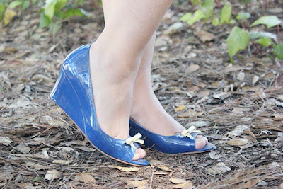 Kate Spade Blue Patent Wedges