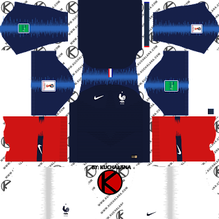 France 2018 World Cup Kit -  Dream League Soccer Kits