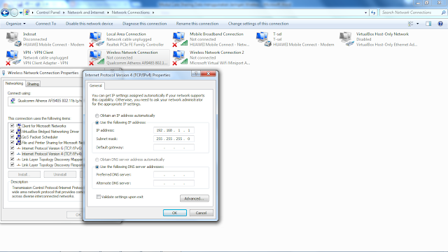 Setting Ip Adress Wireless Adhoc Server