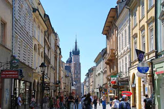 Florianska Street St Mary's Church Krakow Poland