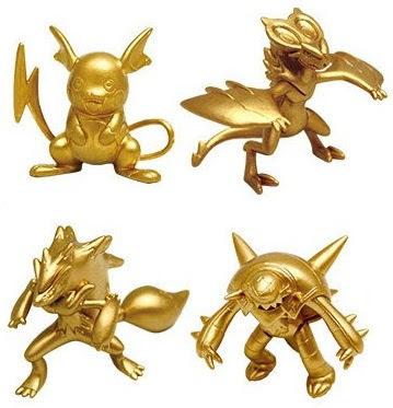 Raichi gold version figure set by Pokemon TCG 2015 promotion
