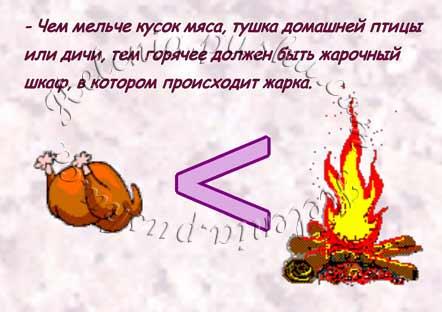 чем мельче кусок мяса тем горячее должен быть огонь