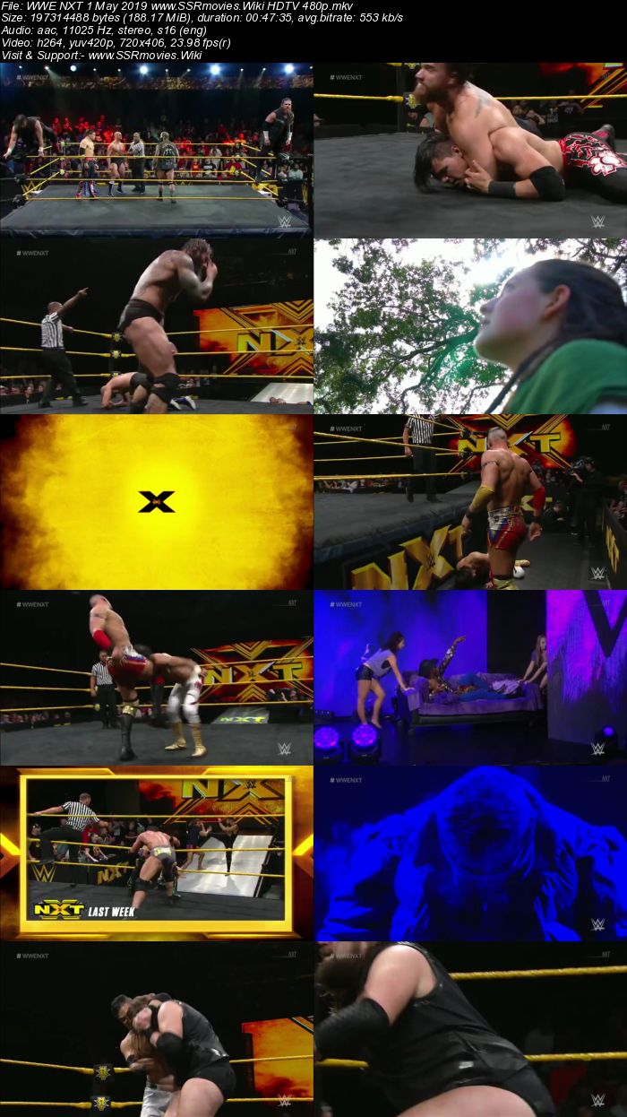 WWE NXT 1 May 2019 HDTV 480p Full Show Download