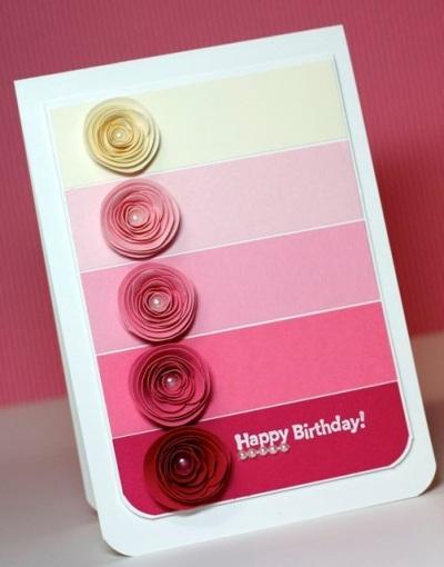 Kartu Ucapan Selamat Ulang Tahun terbuat dari Kartu Warna Cat.