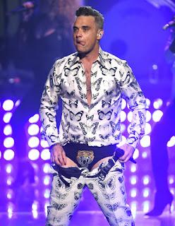 Pop star Robbie Williams