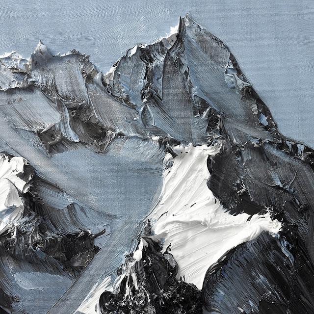 険しい山々の写真?写真に見える山々の絵画【art】 スイス人の画家のコンラッド・ジョン・ゴッドリーダ