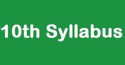 10th Standard Monthly Syllabus Tamilnadu State Board